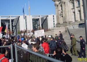 Bild Occupy-Demo vor dem Reichstag, 15.10.2011