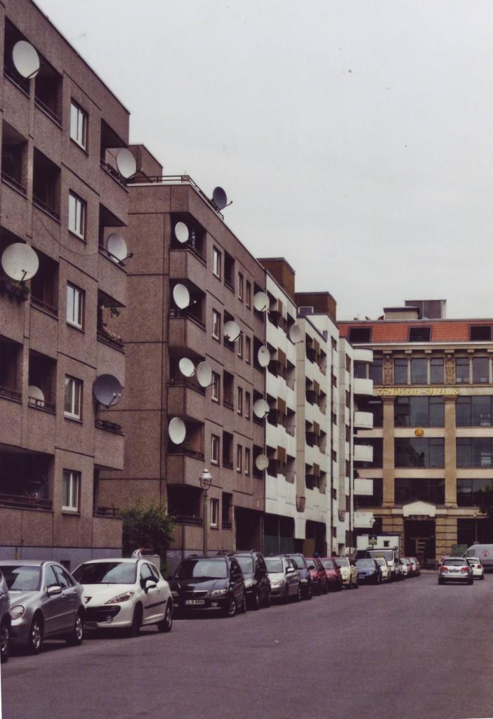 Blick auf das Pelikanhaus in der Ritterstrasse