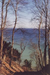 Blick von der Steilküste auf die Ostsee herab